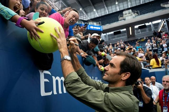 Roger Federer won five straight US Open titles between 2004 and 2008 (AFP Photo/Johannes EISELE)