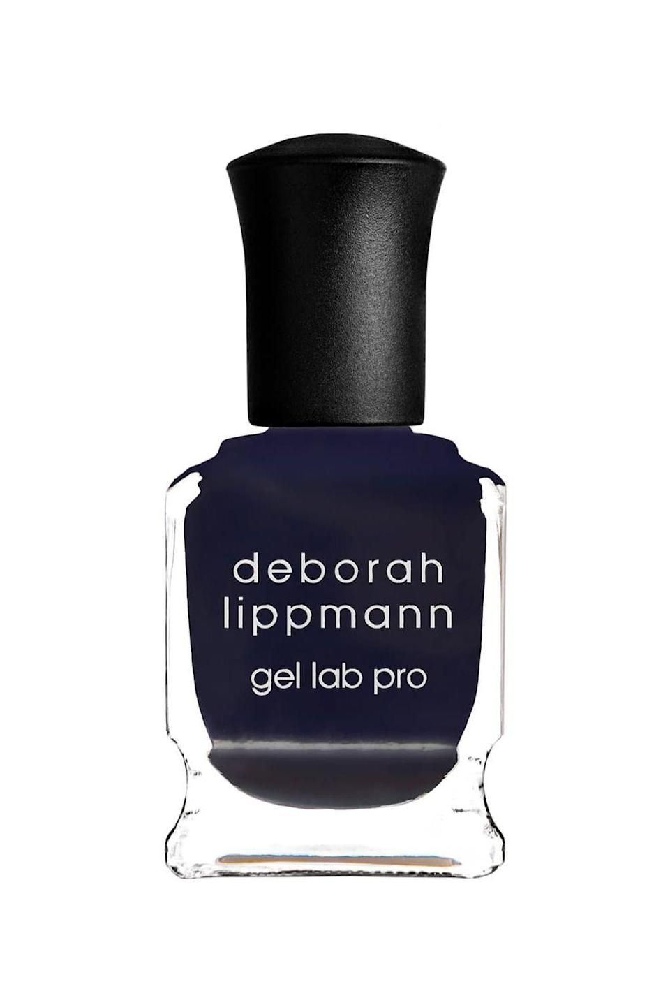 """<p><strong>Deborah Lippmann Gel Lab Pro Nail Color in Fight the Power</strong></p><p>nordstrom.com</p><p><strong>$15.00</strong></p><p><a href=""""https://go.redirectingat.com?id=74968X1596630&url=https%3A%2F%2Fwww.nordstrom.com%2Fs%2Fdeborah-lippmann-gel-lab-pro-nail-color%2F4267698&sref=https%3A%2F%2Fwww.marieclaire.com%2Fbeauty%2Fg3965%2Ffall-nail-colors%2F"""" rel=""""nofollow noopener"""" target=""""_blank"""" data-ylk=""""slk:SHOP IT"""" class=""""link rapid-noclick-resp"""">SHOP IT</a></p><p>Embrace the moodiness of the season with this midnight blue hue that'll last just as long as a gel manicure, without the damage. </p>"""