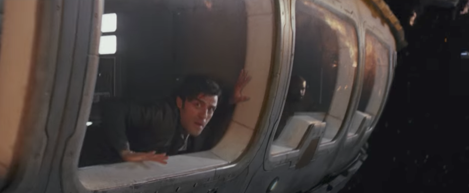 Poe Dameron assesses the battle. (Credit: Lucasfilm)