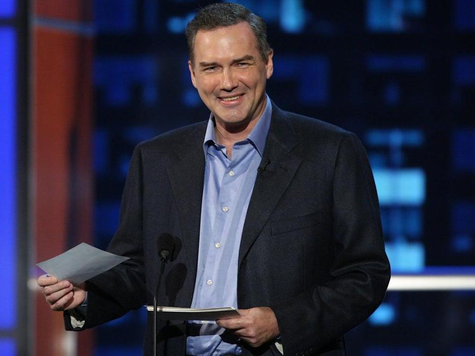 Norm Macdonald on stage during the Comedy Central Roast of Bob Saget on 3 August 2008 in Burbank, California (Alberto E Rodriguez/Getty Images for Comedy Central)