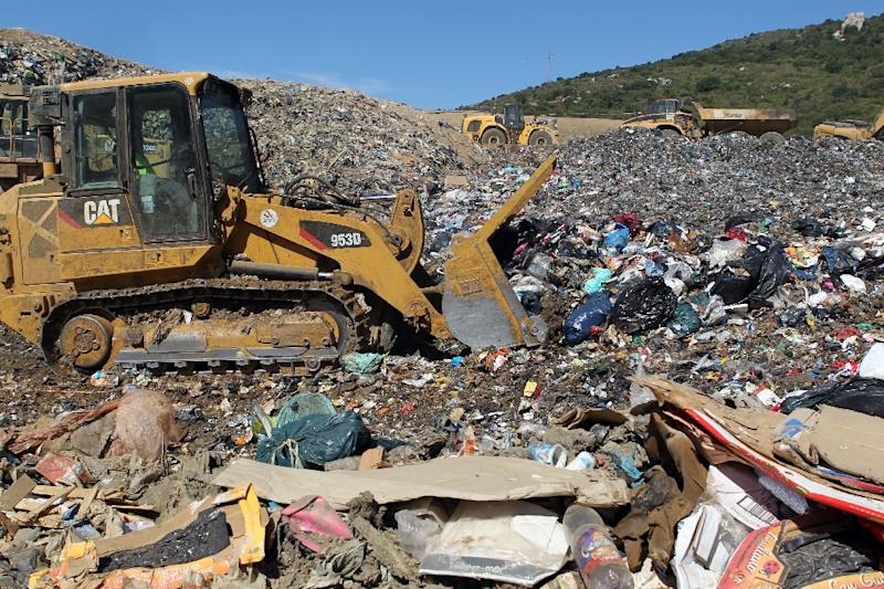 In the European Union, more than 100 million tonnes of trash are dumped every year, though the 28-nation bloc has issued a directive to limit the volumes sent to landfills by 2025 (AFP Photo/Pascal Pochard Casabianca)