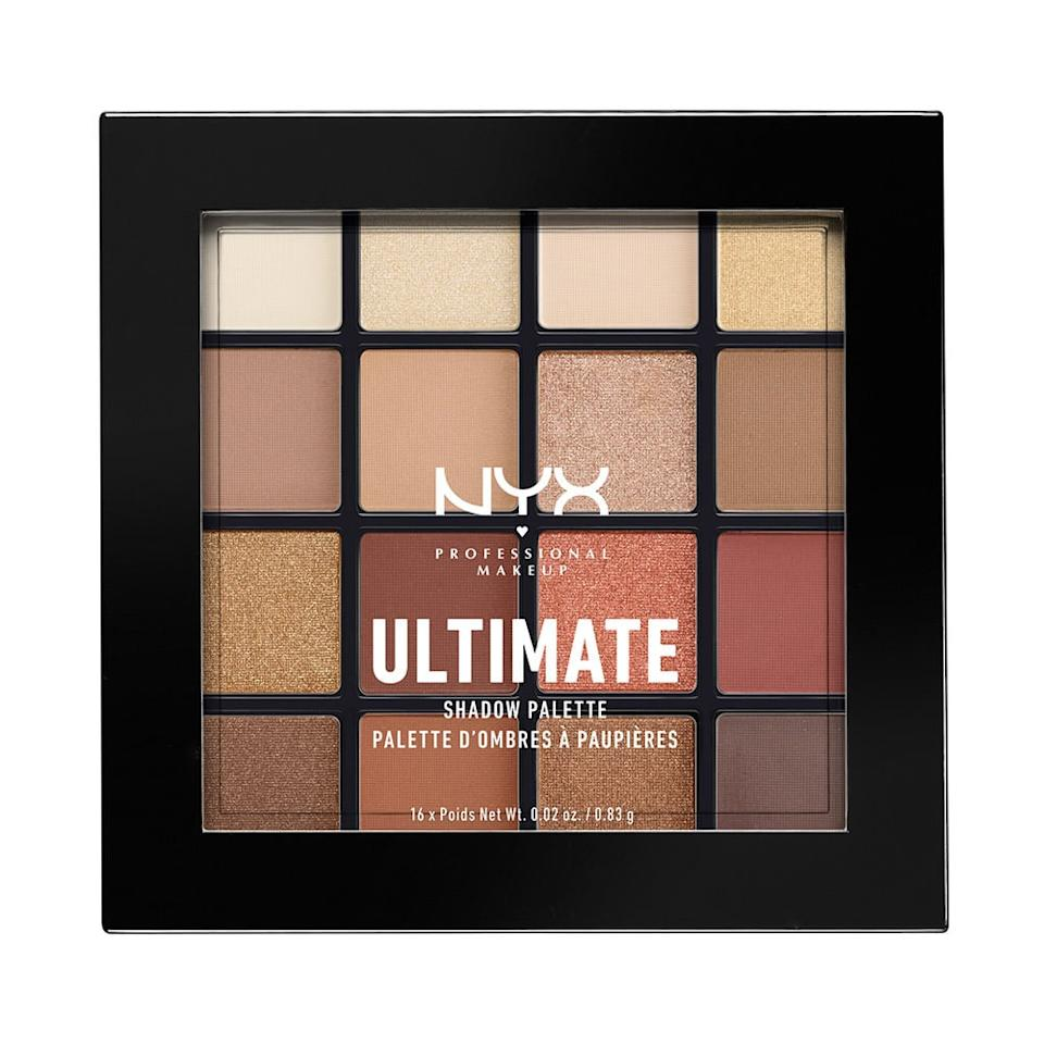 """<p>Get a variety of easy-to-wear shades in the <a href=""""https://www.popsugar.com/buy/NYX-Professional-Makeup-Ultimate-Shadow-Palette-Warm-Neutrals-362665?p_name=NYX%20Professional%20Makeup%20Ultimate%20Shadow%20Palette%20in%20Warm%20Neutrals&retailer=walmart.com&pid=362665&price=11&evar1=bella%3Aus&evar9=46721492&evar98=https%3A%2F%2Fwww.popsugar.com%2Fbeauty%2Fphoto-gallery%2F46721492%2Fimage%2F46721598%2FNYX-Professional-Makeup-Ultimate-Shadow-Palette-in-Warm-Neutrals&list1=eye%20shadow%2Cbeauty%20products%2Cmakeup%20palettes&prop13=api&pdata=1"""" rel=""""nofollow"""" data-shoppable-link=""""1"""" target=""""_blank"""" class=""""ga-track"""" data-ga-category=""""Related"""" data-ga-label=""""https://www.walmart.com/ip/NYX-Professional-Makeup-Ultimate-Shadow-Palette-Warm-Neutrals/121971259"""" data-ga-action=""""In-Line Links"""">NYX Professional Makeup Ultimate Shadow Palette in Warm Neutrals</a> ($11) for an affordable price.</p>"""