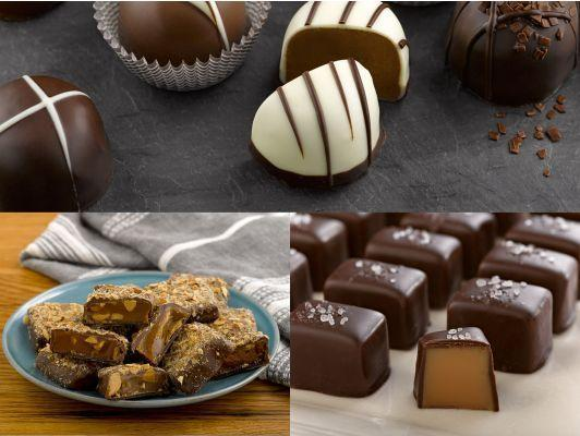 """<p><strong>Lake Champlain Chocolates</strong></p><p>lakechamplainchocolates.com</p><p><strong>$130.00</strong></p><p><a href=""""https://www.lakechamplainchocolates.com/chocolate-fanatics-club?gclid=CjwKCAiA8qLvBRAbEiwAE_ZzPc8rfKdasYFodJGQ7IO8qc6H1-LS_a2AIxjsmV3j59ItZXXrhuYnURoC8Z8QAvD_BwE"""" rel=""""nofollow noopener"""" target=""""_blank"""" data-ylk=""""slk:Shop Now"""" class=""""link rapid-noclick-resp"""">Shop Now</a></p><p>Lake Champlain Chocolates offers a monthly subscription service that will send gourmet Vermont-made chocolate to your loved one's (or your own) door every month. From sea salt caramels to chocolate truffles, this gift will be incredibly hard to resist.</p><p><strong>Cost:</strong> Starts at $130 </p>"""
