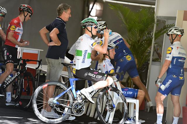 Sam Bennett and his Deceuninck-QuickStep teammates