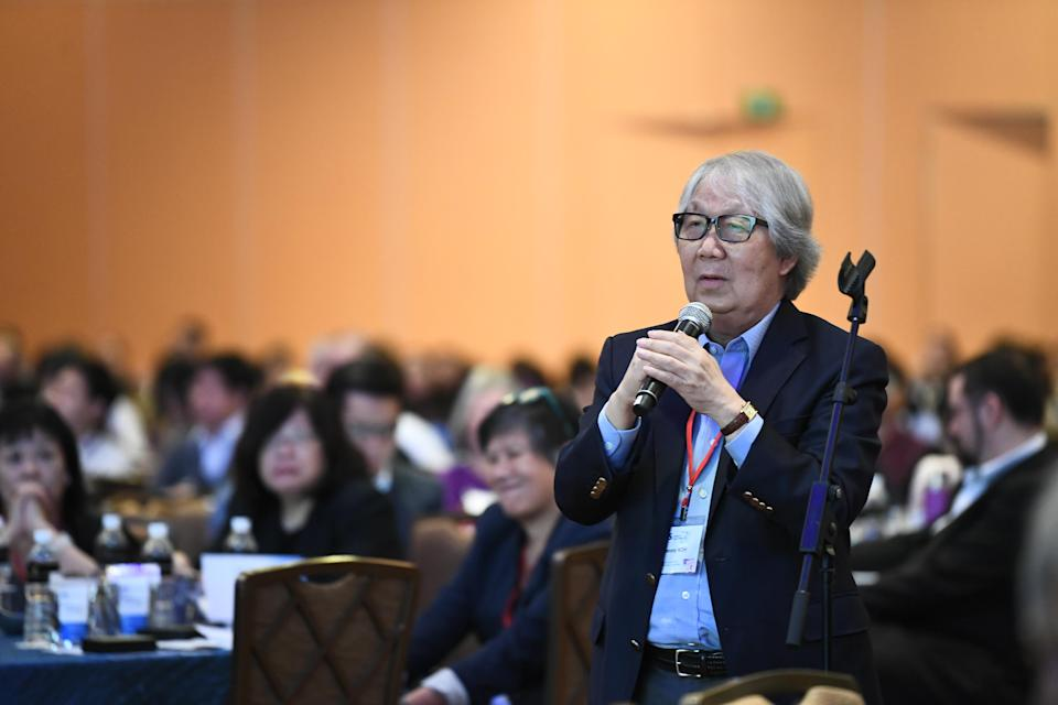 Ambassador-at-large Tommy Koh during a question-and-answer session at the Institute of Policy Studies 30th Anniversary conference on 26 October, 2018 (PHOTO: Jacky Ho, for the Institute of Policy Studies, NUS)