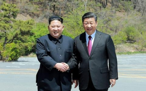 <span>Kim Jong-un and Xi Jinping, the Chinese president, have rekindled their political relationship</span> <span>Credit: KCNA/AFP </span>