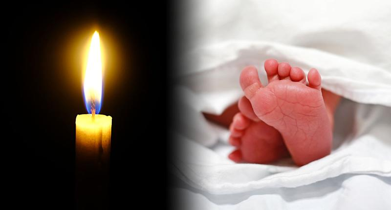 A woman has given birth by candle light in the laundry room of a birthing centre [Photo: Getty]