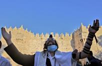 """The so-called March of the Flags celebrates the anniversary of the city's """"re-unification"""" after Israel captured its east, including the Old City which houses sites holy to all three Abrahamic faiths, in 1967"""