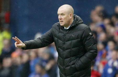 Rangers manager Mark Warburton during the match