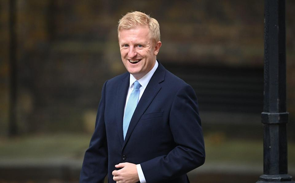 Oliver Dowden arrives in Downing Street on September 15 - Leon Neal/Getty Images