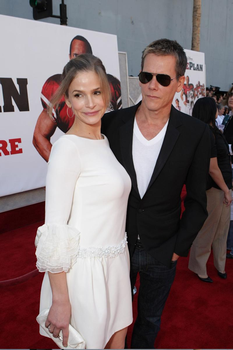 "The couple at the premiere of ""The Game Plan"" at the El Capitan Theatre in Hollywood, California."