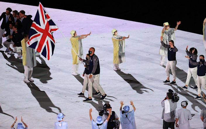 Delegation from the UK takes part in the Parade of Nations at the Tokyo 2020 Olympics opening ceremony in Tokyo, Japan on 23 July 2021 - Sergei Bobylev/Getty Images