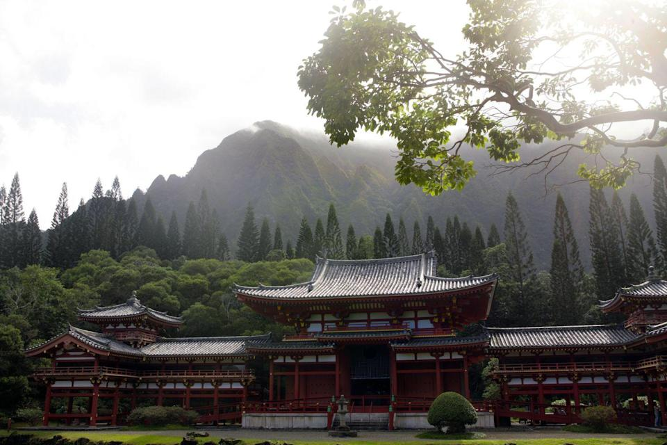 <p>Modeled after a centuries-old temple in Kyoto, Japan, the Byodo-In Temple brings a bit of Japanese charm to Hawaii. Large koi ponds cover the two acres surrounding the temple and create a transportive Japanese experience while trekking the grounds, located on the Big Island.</p>