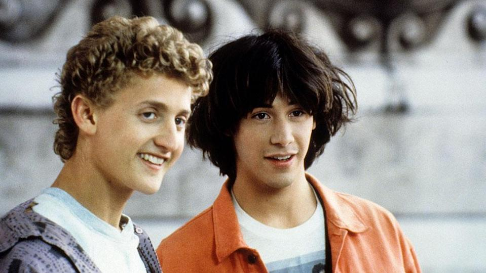 """Alex Winter and Keanu Reeves in 1989's """"Bill and Ted's Excellent Adventure"""" - Credit: ©Orion Pictures Corp/Courtesy E"""