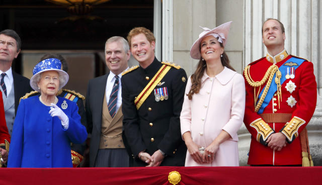 The Queen at the 2013 Trooping the Colour. (Getty Images)