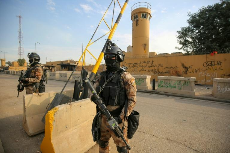 An Iraqi security source said the US embassy appeared to be the intended target of the rocket attack (AFP Photo/AHMAD AL-RUBAYE)