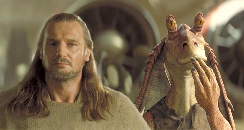 Qui-Gon and Jar Jar Binks in The Phantom Menace (Credit: Fox/Lucasfilm)