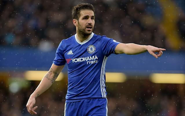Cesc Fabregas has frequently been used from the bench by Antonio Conte - Copyright (c) 2017 Rex Features. No use without permission.