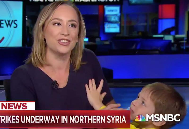 Courtney Kube and son. (Photo: MSNBC)