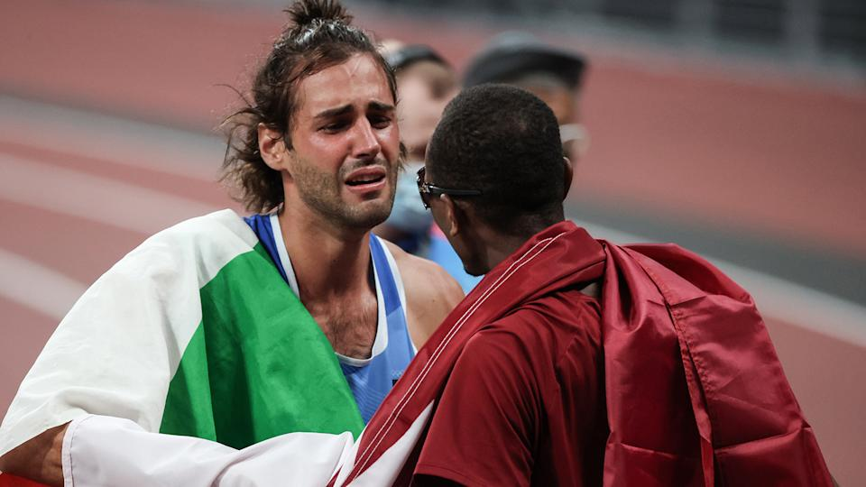 This is what the Olympics are all about. (Photo by Elif Ozturk Ozgoncu/Anadolu Agency via Getty Images)