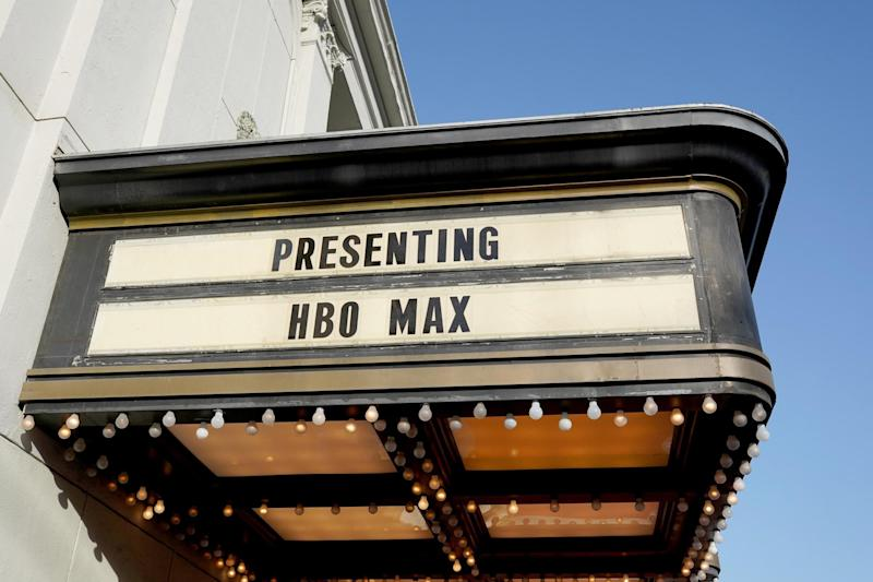 HBO Max signage at Warner Bros Studios in Burbank, California on 29 October 2019: Presley Ann/Getty Images for WarnerMedia