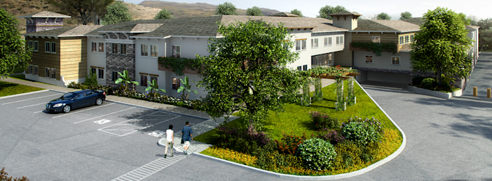 Melrose West Senior Living would include 68 assisted-living units and 40 memory-care units. The proposed development is now at the center of a lawsuit between a developer, housing advocacy group Yes In My Back Yard and the city of Simi Valley.