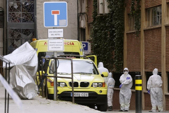 Medical workers in Madrid