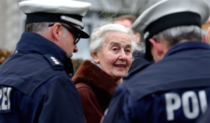 Ursula Haverbeck has a number of convictions for Holocaust denial (Picture: Rex)
