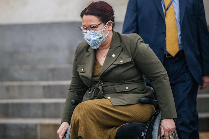 <p>Illinois Sen Tammy Duckworth at the US Capitol.</p> (Getty Images)