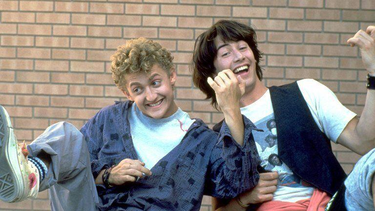 Alex Winter and Keanu Reeves as Bill & Ted (Credit: Orion Pictures)