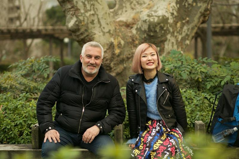 Paul Hollywood's guide Kilara told him he was being rude on 'Paul Hollywood Eats Japan'. (Channel 4)