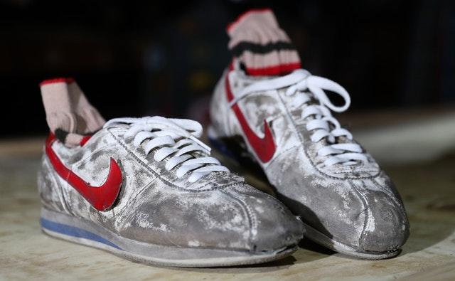 Forrest Gump's screen-matched Nike trainers and socks (Andrew Matthews/PA)