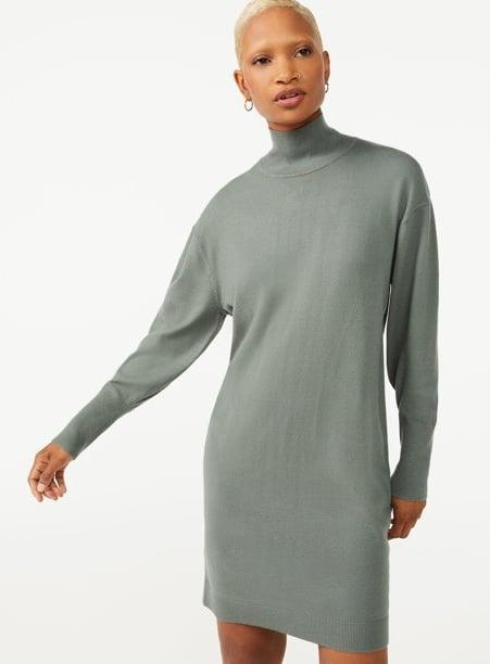 <p>Meet the versatile basic your wardrobe definitely needs. The <span>Free Assembly Women's Turtleneck Sweater Dress</span> ($30) offers so much styling potential. Team it with a wide bet or over-the-knee boots - and then get ready to turn heads.</p>