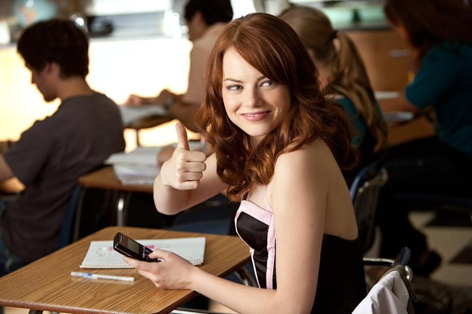 "<p>Take <a class=""link rapid-noclick-resp"" href=""https://www.popsugar.com/Emma-Stone"" rel=""nofollow noopener"" target=""_blank"" data-ylk=""slk:Emma Stone"">Emma Stone</a>'s snarky leading-lady charm and put it in a teen comedy, and you've got <strong>Easy A</strong>. It's easy to imagine Olive as a teenage version of Stone's <strong>Crazy, Stupid, Love</strong> character: ambitious, too smart for her own good, and having a spiraling mess of a love life.</p> <p><a href=""http://www.netflix.com/title/70123920"" class=""link rapid-noclick-resp"" rel=""nofollow noopener"" target=""_blank"" data-ylk=""slk:Watch Easy A on Netflix"">Watch <strong>Easy A</strong> on Netflix</a>.</p>"