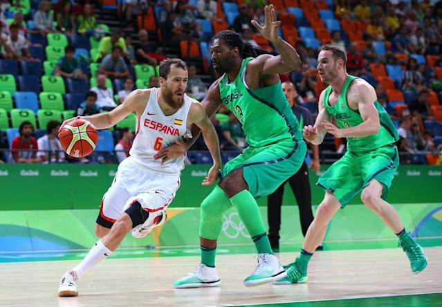Nene and Brazil could have a tough time advancing out of group play at the Olympics. (Getty)