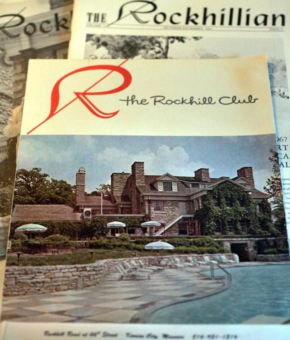 Old Rockhill Tennis Club newsletters from the 1950s and 1960s