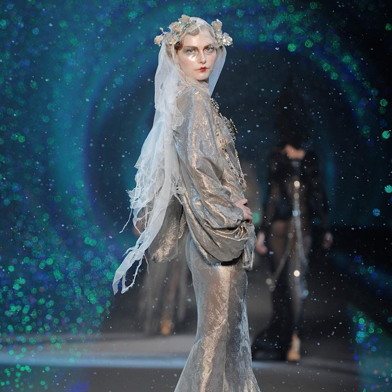 beautifully iced maidens walked through a snowstorm at john