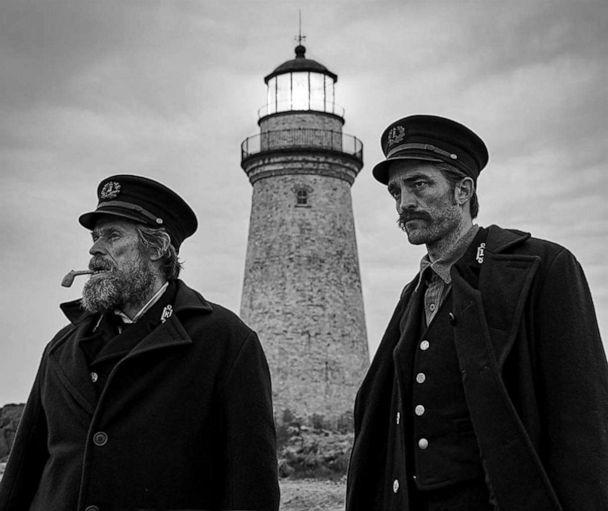 PHOTO: Willem Dafoe and Robert Pattinson in a scene from 'The Lighthouse.' ( Courtesy A24)
