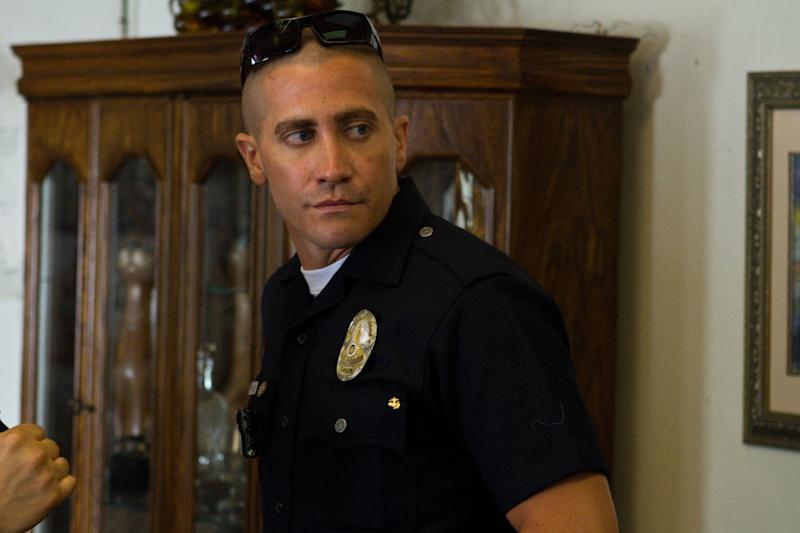 """This film image released by Open Road Films shows Jake Gyllenhaal in a scene from """"End of Watch."""" (AP Photo/Open Road Films, Scott Garfield)"""