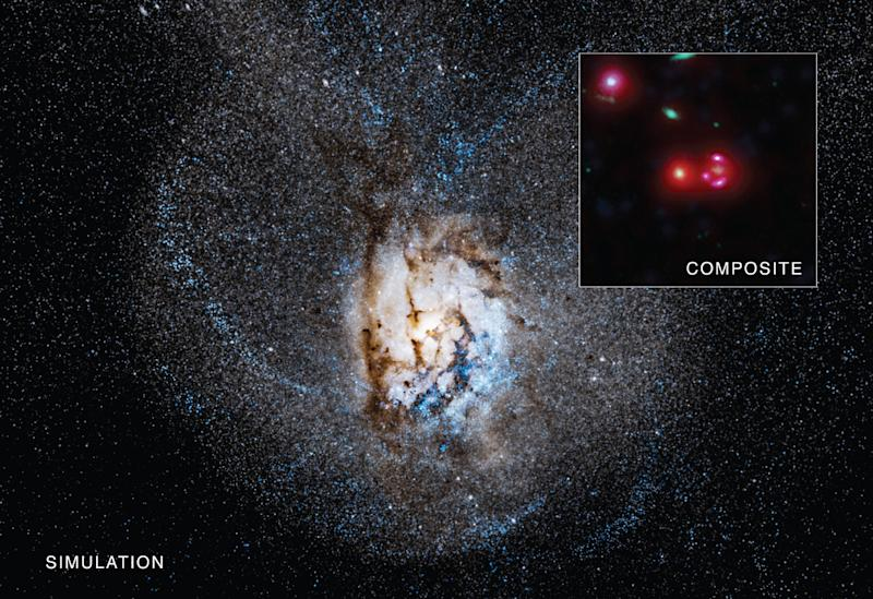Astronomers Spot An Unusually Active Ancient Galaxy