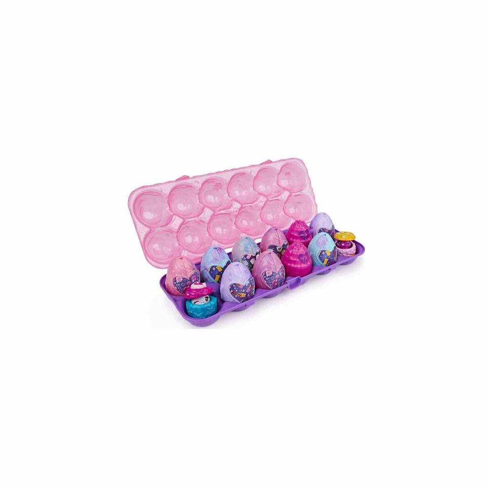 """<p><strong>Hatchimals</strong></p><p>amazon.com</p><p><strong>$19.99</strong></p><p><a href=""""https://www.amazon.com/dp/B084KC53RS?tag=syn-yahoo-20&ascsubtag=%5Bartid%7C10072.g.35448928%5Bsrc%7Cyahoo-us"""" rel=""""nofollow noopener"""" target=""""_blank"""" data-ylk=""""slk:SHOP NOW"""" class=""""link rapid-noclick-resp"""">SHOP NOW</a></p><p>Any child would be thrilled to find this wildly popular toy nestled in their Easter basket. </p>"""