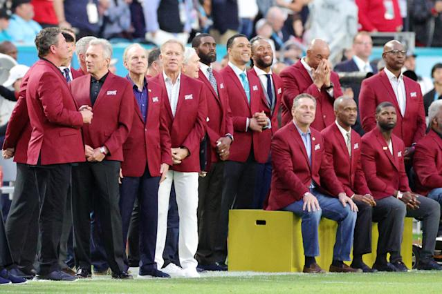 The NFL honors the Top 100 prior to Super Bowl LIV between the San Francisco 49ers and the Kansas City Chiefs at Hard Rock Stadium on February 02, 2020 in Miami, Florida. (Photo by Rob Carr/Getty Images)