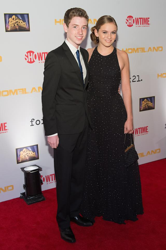 "WASHINGTON, DC - SEPTEMBER 09: Jackson Pace and Morgan Saylor attend a premiere screening hosted by SHOWTIME and Fox 21 for the hit series ""Homeland"" for Season 3 at Corcoran Gallery of Art on September 9, 2013 in Washington City. (Photo by Daniel Boczarski/Getty Images for Showtime)"