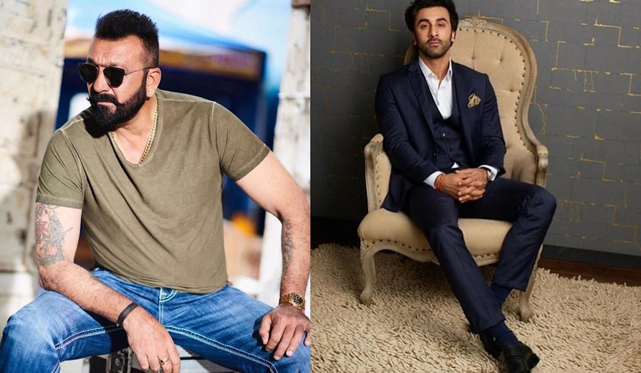 <p>We are awestruck with the wide range of get-ups Ranbir has assumed to play Sanjay in this Rajkumaar Hirani movie. Slide along to see who else stars in the movie. </p>