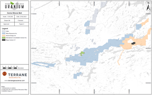 Figure 1 – Map of the Central Mineral Belt