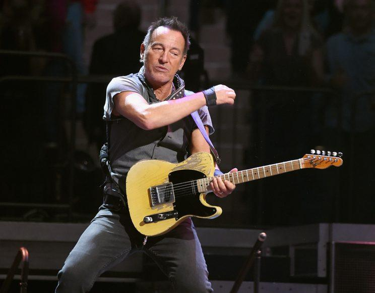 Bruce Springsteen on stage at Madison Square Garden on March 28, 2016 in New York City. (Photo: Jamie McCarthy/Getty Images)