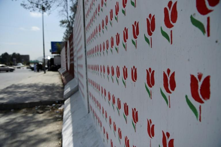 Omaid Sharifi's collective covered many of Kabul's blast walls with colourful murals (AFP/Wakil KOHSAR)