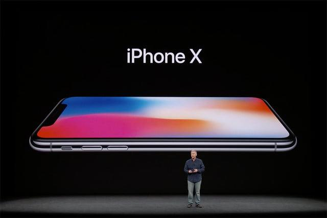 iPhone X on stage