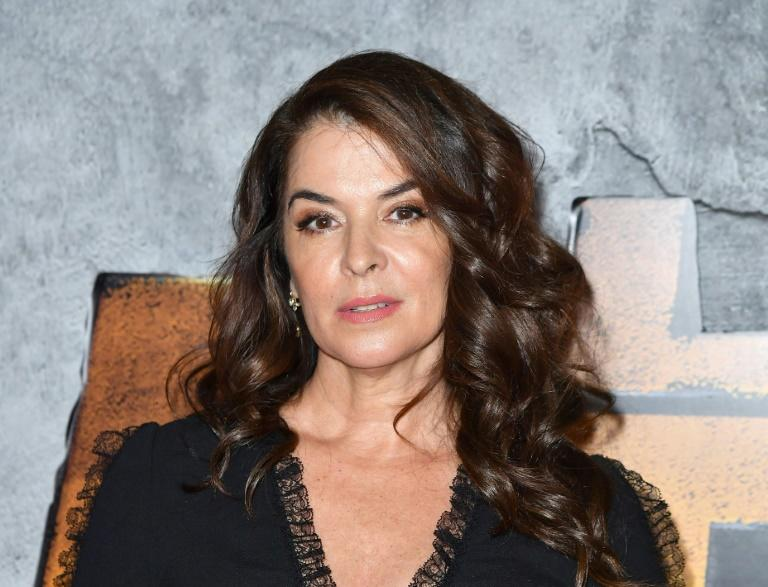 American actress Annabella Sciorra, pictured in New York in June 2018, alleges that Weinstein raped her over the winter of 1993-94 in Manhattan