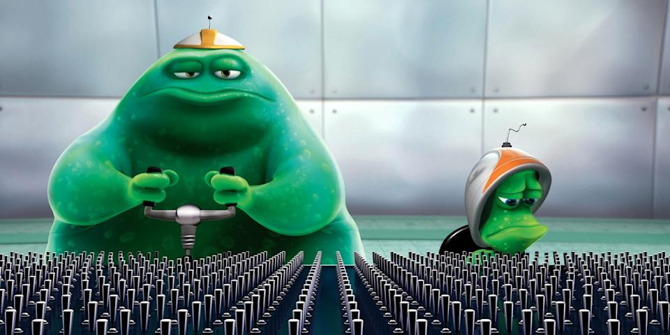 Lifted debuted ahead of Ratatouille in cinemas and on DVD. (Pixar)